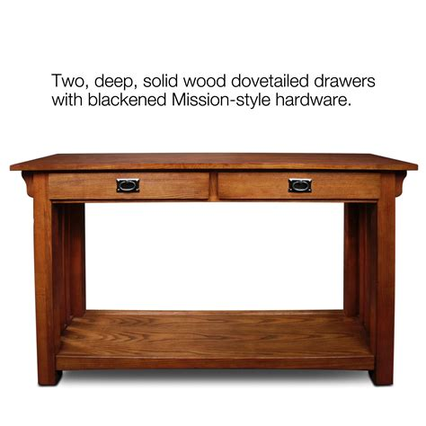 mission oak sofa table amazon com leick furniture mission sofa table medium oak