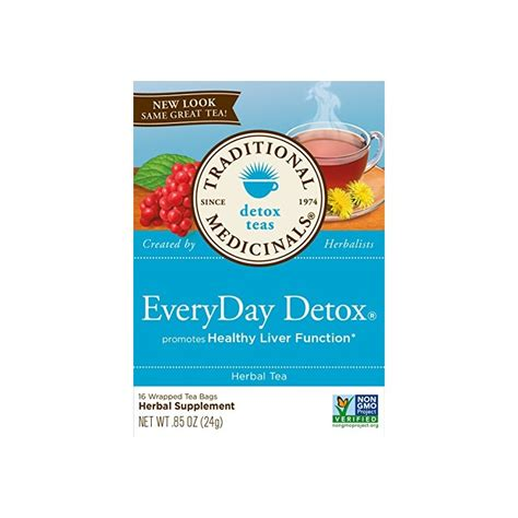 Detox Pack Uses by Everyday Detox Tea Pack Of 6 By Traditional Medicinals