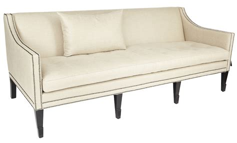Modern 3 Seater Sofa George Sofa Modern Classic 3 Seater Sofa With Contemporary Stud Detailing In White