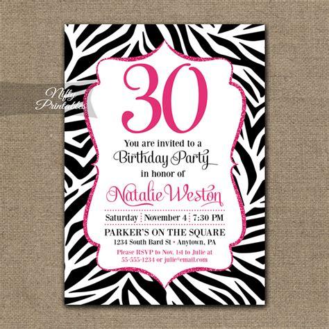 printable zebra invitations for birthdays zebra birthday invitation hot pink black nifty printables
