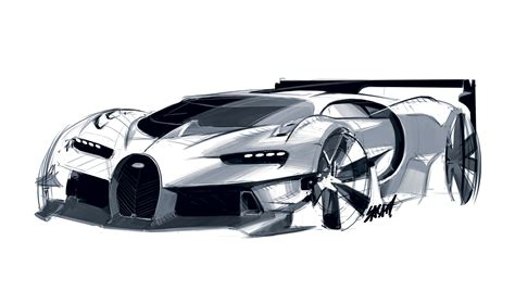 future bugatti 2020 bugatti vision gran turismo concept design sketch car