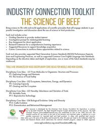 learn about beef agricultural education resources from the on the farm program