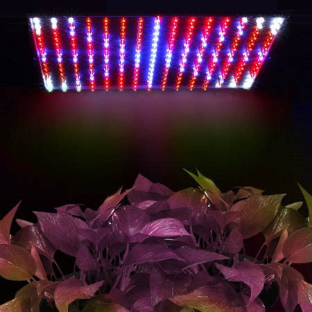 led grow light panel blue red  watt hydroponic