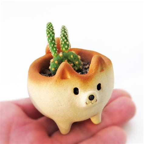 cute planters this etsy shop sells the cutest shiba inu planters ever