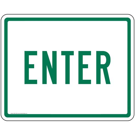 to enter exit and entrance signs surface mount signs