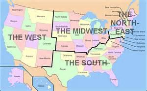 four regions map usa regional map