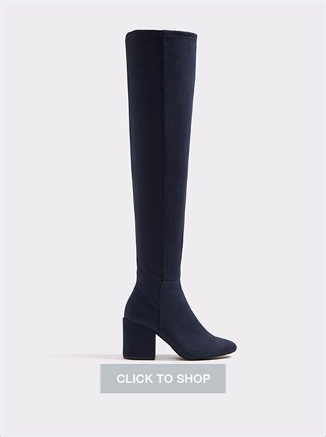 10 trendy suede the knee boots with a block heel mujo