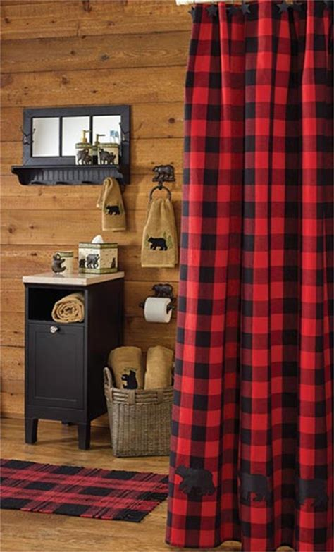 Lumberjack Bear Shower Curtain: Cabin Place