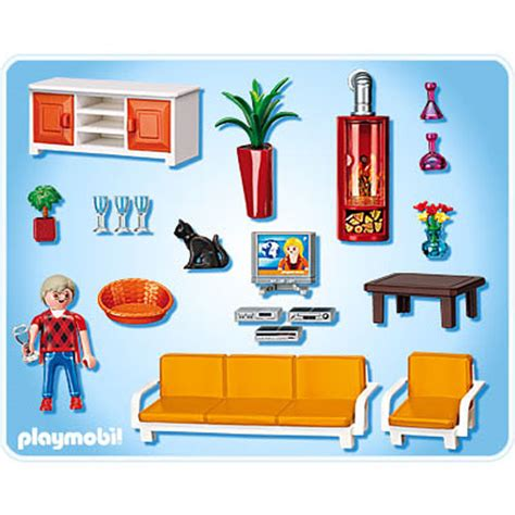 Playmobil Wohnzimmer 5332 by Comfortable Living Room Homewood Hobby