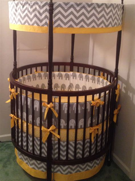 round crib bedding round crib bedding set gray elephant and your choice of accent