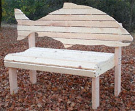 fish adirondack chair pattern salmon fish bench woodworking pattern diy projects to