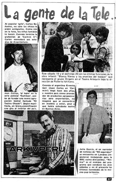 «La gente de la tele» (Revista Tele Guía / Telecolor, 1986