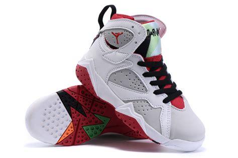 kid jordans air 7 retro shoes white gray black 74974 55 playjordans