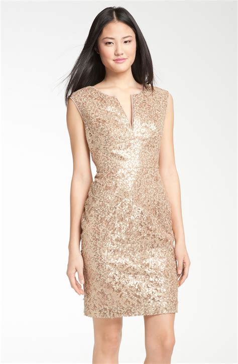 Asos Bring Us Another Style Gold Sequin Dress by 9 Sultry Sequin Dresses To Add Sparkle To Your