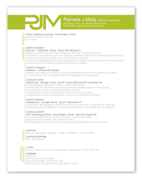 animator resume design print resume by matz at coroflot