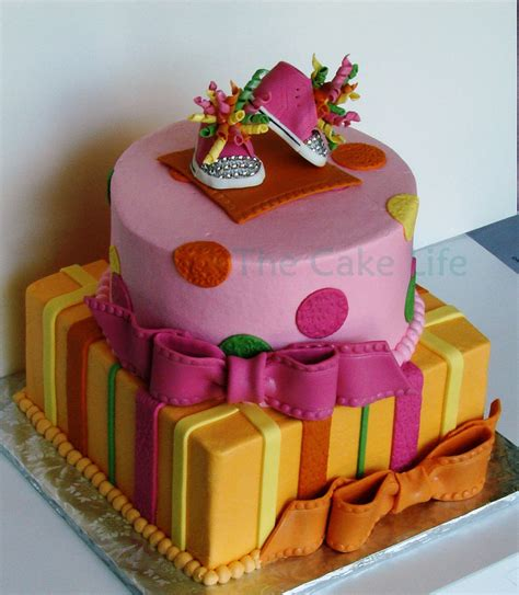 Pink And Yellow Baby Shower Cake by Brightly Colored Pink Orange Green And Yellow Baby Shower
