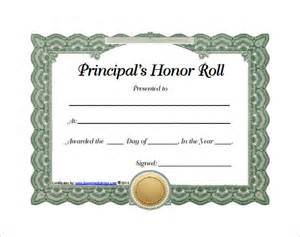 free honor roll certificate template 9 printable honor roll certificate templates free word