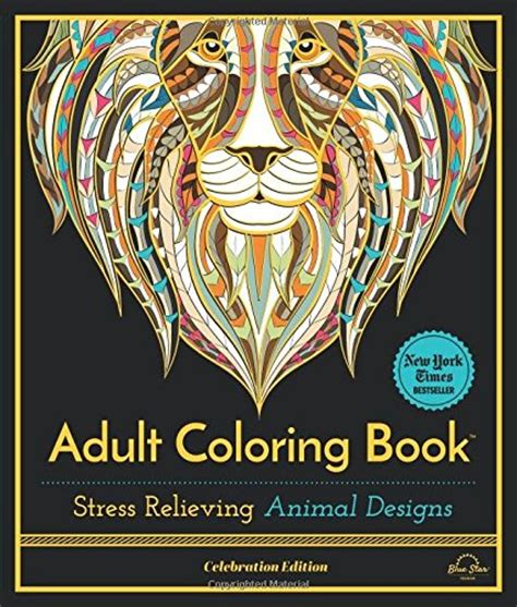 coloring book stress relieving animal designs