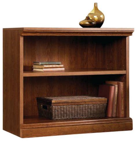 sauder 2 shelf bookcase cherry sauder camden county 2 shelf bookcase in planked cherry