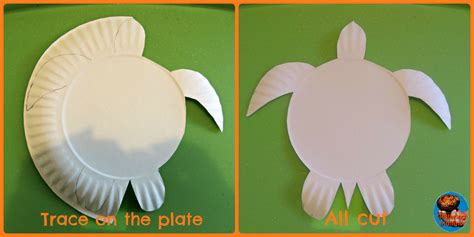 Paper Plate Turtle Craft Template - 47 paper plate turtle craft template finding nemo