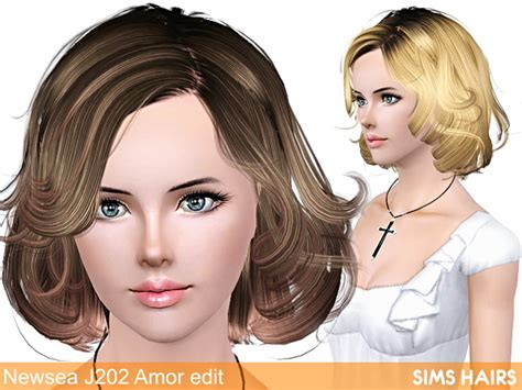 how to download hairstyles in sims 4 newsea s j202 af hairstyle retexture by sims hairs