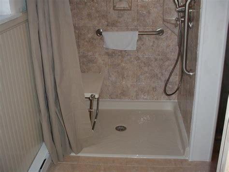 handicap shower seat installation handicap accessible bathroom creating a design that works