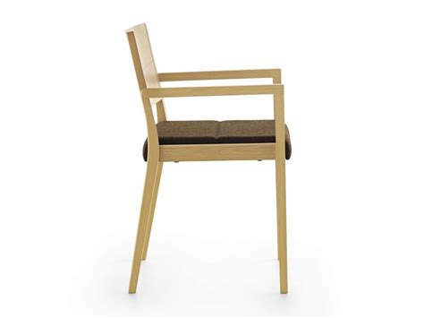 Padded Stackable Chairs by Stackable Wooden Armchair Padded Seat Idfdesign