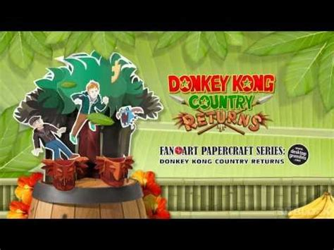 Country Papercraft - kong country returns paper craft in