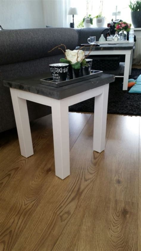 Ikea Rustic Dining Table A Rustic Lack Coffee Table Ikea Hackers Ikea Hackers