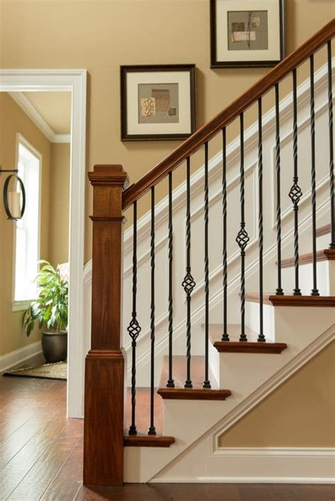 staircase banisters ideas 25 best ideas about wood stair railings on pinterest