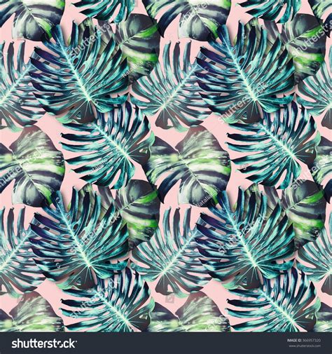 jungle wallpaper pattern tropical jungle leaves seamless floral pattern stock