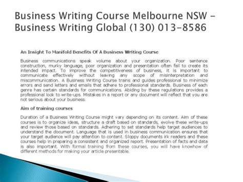 Business Letter Writing Courses Melbourne creative writing course australian writers centre
