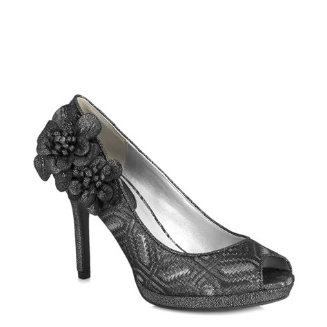 pewter shoes for wedding new ruby shoo donna peeptoe corsage shoe silver gold