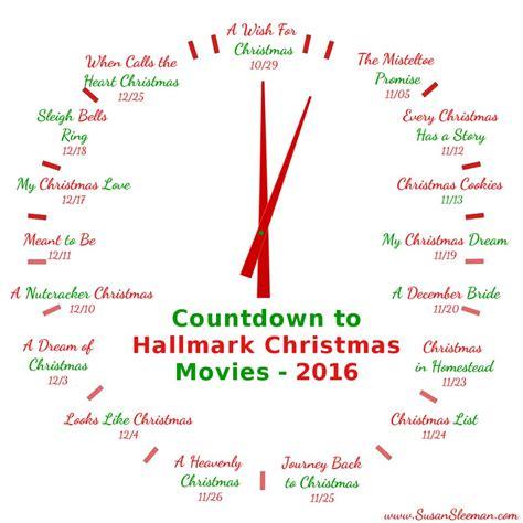 printable schedule of hallmark christmas movies hallmark christmas movie 2016 schedule susan sleeman