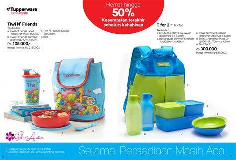Tupperware Miss Tote Bag Small Promo harga spesifikasi tupperware t for 2 set new regular
