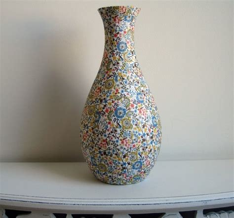 Paper Mache Vase For by Happy Floral One Curvy Vase White Pink Yellow Blue