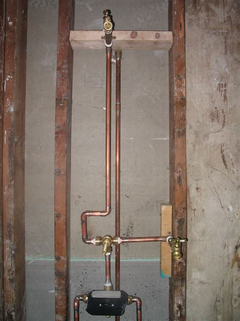 how to install plumbing plumbing shower valve installation