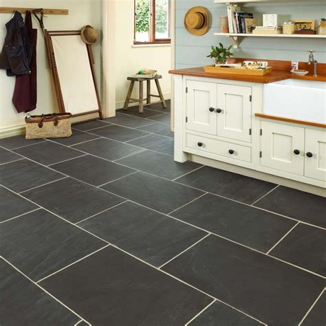 Brown And Blue Bathroom Ideas by Rustic Black Slate Floor Tiles Marshalls