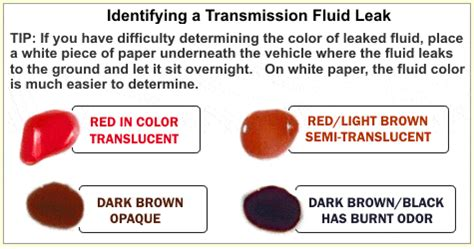 what color should power steering fluid be what causes the leak of transmission fluids wheelarea