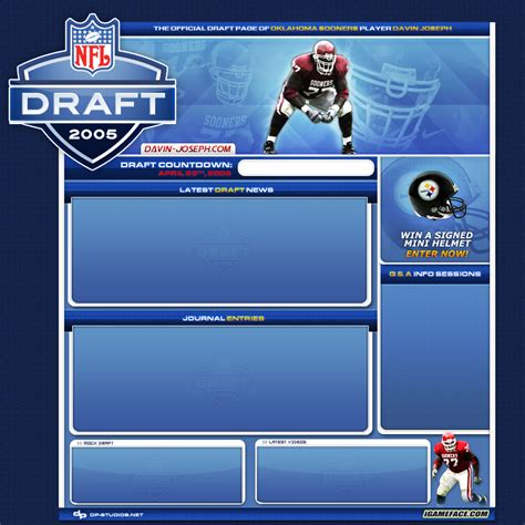 nfl design template 2006 nfl draft template by dp16 on deviantart