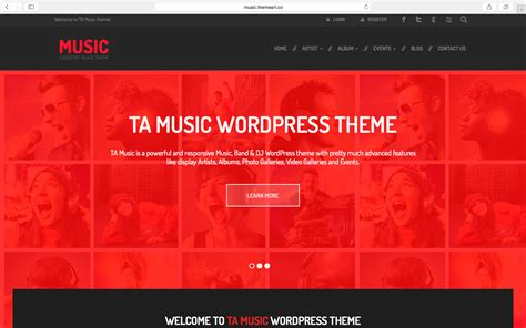 themes wordpress music band ta music the best free music band wordpress theme