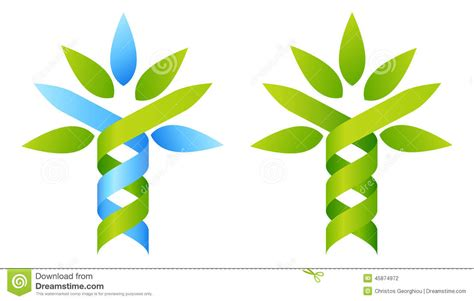 Other Nature tree dna concept stock vector image of herbalist helix