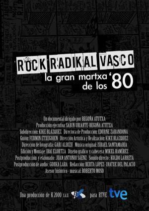 rock vasco rock radikal vasco la gran martxa de los 80 2013