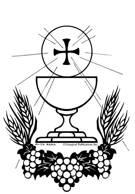 coloring page eucharist sacraments coloring pages