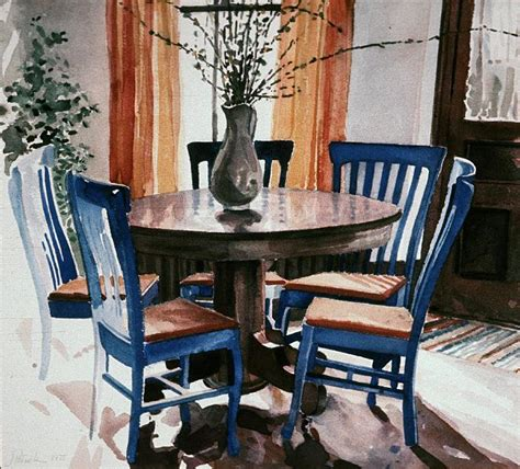 Dining Room Set watercolors archived iowa city dining room with blue