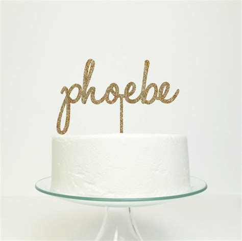 Personalised Cakes by Personalised Name Cake Topper By Miss Cake