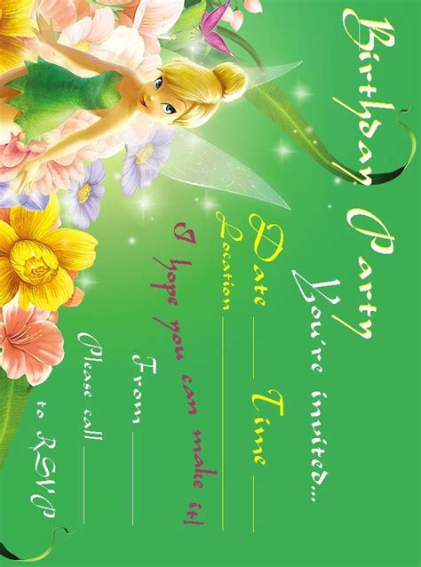printable invitations tinkerbell 170 best free printable birthday party invitations images