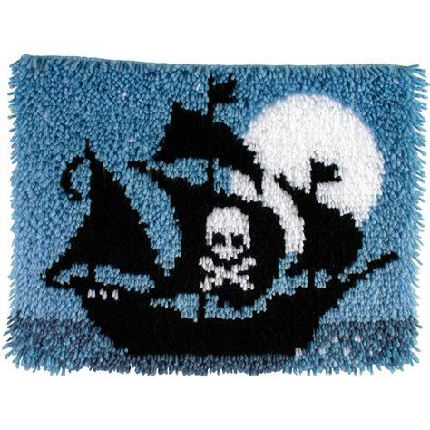 latch hook rug kits for caron wonderart latch hook kit pirate ship jo