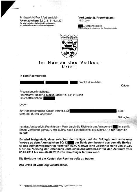 Antrag Briefwahl Wiesbaden Negative Feststellungsklage Rechtsanwalt Rader