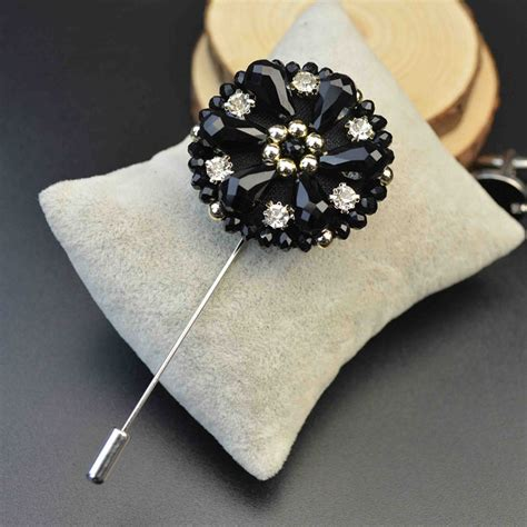 Handmade Brooches Pins - mdiger exquisite lapel pins beaded flower brooches